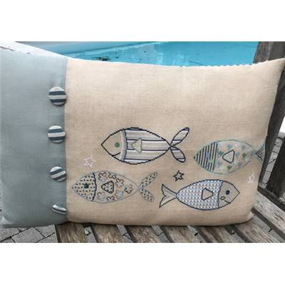 KIT COUSSIN POISSONS - DIMENSIONS FINIES 50 x 35 cm environ