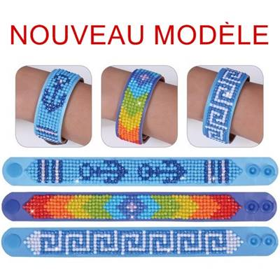 KIT BRODERIE DIAMANT - LOT 3 BRACELETS SYMBOLES