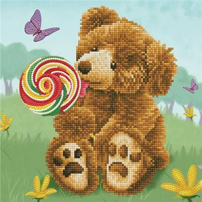 KIT BRODERIE DIAMANT - HONEY POT BEAR LOLLY POP LICK