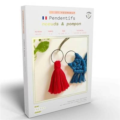 FRENCH'KITS - DIY - PENDENTIFS - NOEUDS & POMPON