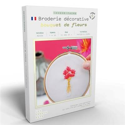 FRENCH'KITS - BRODERIE DÉCORATIVE - BOUQUET DE FLEURS