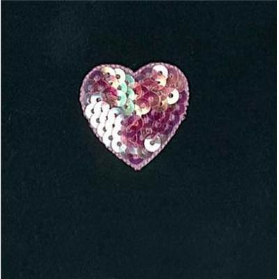 MOTIFS THERMOCOLLANTS - COEUR SEQUIN - LE LOT DE 3