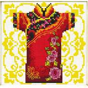NO COUNT CROSS STITCH - KIMONO ROSE POUR MONSIEUR