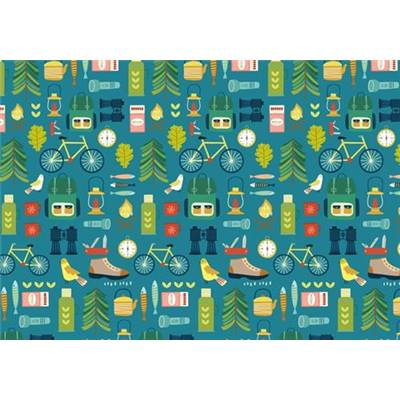 TISSU DASHWOOD STUDIO - HOBBIES 1749 - COTON - 110 CM