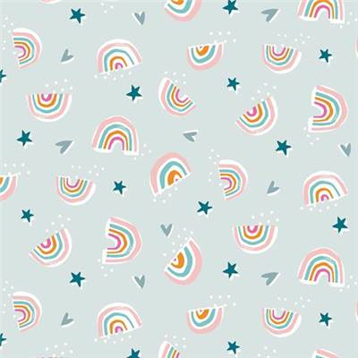 TISSU DASHWOOD STUDIO - RAINBOW FRIENDS 1793 - COTON - 110CM