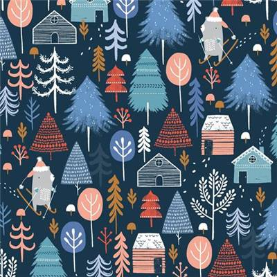 TISSU DASHWOOD STUDIO - SNOW MUCH FUN 1701 - COTON - 110 CM