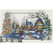 NO COUNT CROSS STITCH - LE COTTAGE EN HIVER