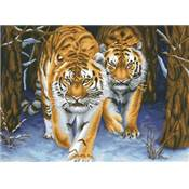NO COUNT CROSS STITCH - LES TIGRES