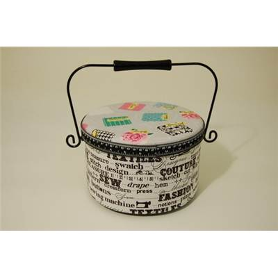 SEW TO SPEAK - BOITE A COUTURE RONDE 13 X 23 CM DIA