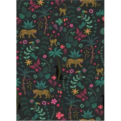 TISSU DASHWOOD - NIGHT JUNGLE 1644 - COTON - 110 CM - mini 5 m