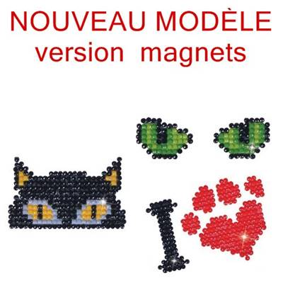KIT BRODERIE DIAMANT - LOT 3 MAGNETS CHAT AND CO - septembre 2018
