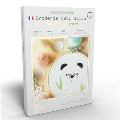 FRENCH KITS - BRODERIE DÉCORATIVE - TENDRE PANDA