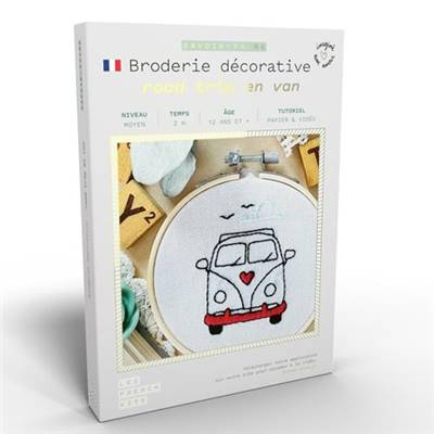 FRENCH KITS - BRODERIE DÉCORATIVE - ROAD TRIP EN VAN