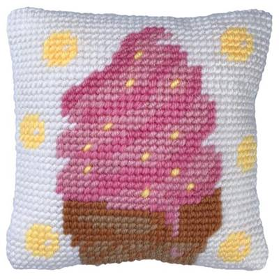 COUSSIN TAPISSERIE LADYBIRD - PETITE GLACE  - 22 X 22 CM