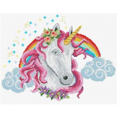 NO COUNT CROSS STITCH - RAINBOW UNICORN