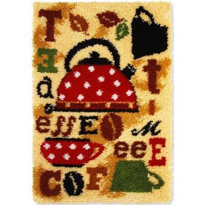 KIT TAPIS POINT NOUE 50 X 75 CM - THÉ ET CAFÉ