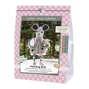 KIT MOUSE SISTERS COLLECTION - CHERRY & LINE - 20 CM & 9 CM
