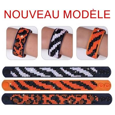KIT BRODERIE DIAMANT - LOT 3 BRACELETS PELAGE ANIMAUX