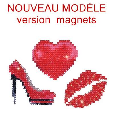 KIT BRODERIE DIAMANT - LOT DE 3 MAGNETS GIRLY - septembre 2018