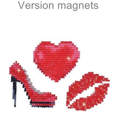 KIT BRODERIE DIAMANT - LOT 3 MAGNETS GIRLY