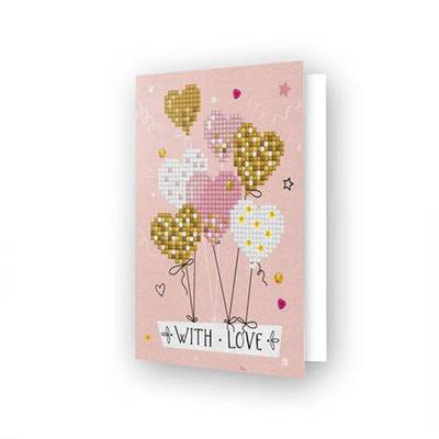 CARTE DE VOEUX DIAMOND DOTZ - LOVE BALLOONS