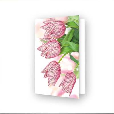 CARTE DE VOEUX DIAMOND DOTZ - ROMANTIC TULIPS