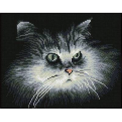 KIT BRODERIE DIAMANT SQUARES - SHADOW CAT
