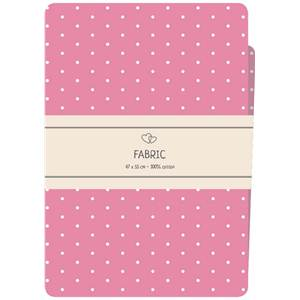 COUPON TISSU IMPRIME 100% COTON - FAT QUARTER 47X55 CM -ROSE A POIS
