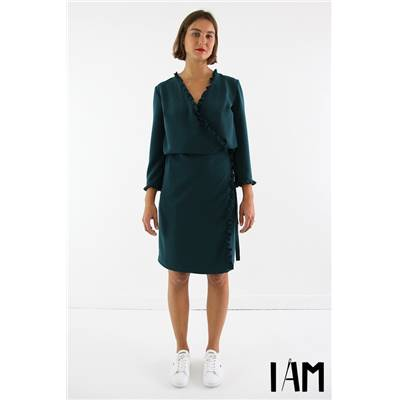 PATRON COUTURE FEMME - I AM PERLE - ROBE PORTEFEUILLE - 36/46