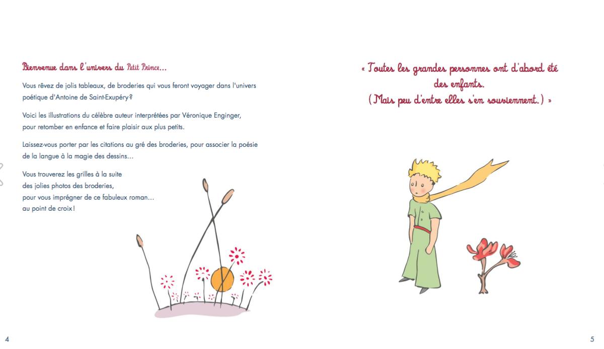Le Petit Prince A Broder Au Point De Croix V Enginger
