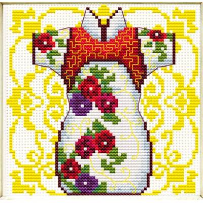 NO COUNT CROSS STITCH - KIMONO ROSE POUR MADAME