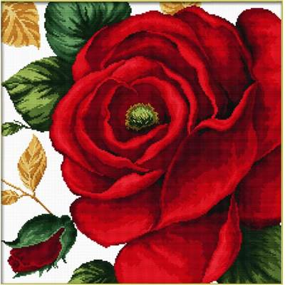 NO COUNT CROSS STITCH - ROSE