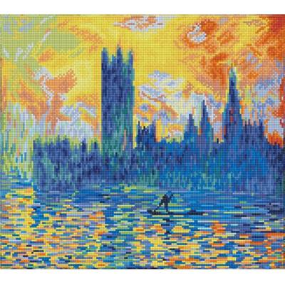 KIT BRODERIE DIAMANT - PARLEMENT DE LONDRES D'APRES MONET