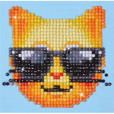 KIT BRODERIE DIAMANT - CHAT COOL - disponible fin avril