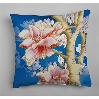 KIT BRODERIE DIAMANT - COUSSIN DECORATIF MAGNOLIA 2