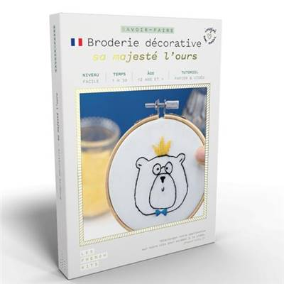 FRENCH'KITS - BRODERIE DÉCORATIVE - SA MAJESTÉ L'OURS
