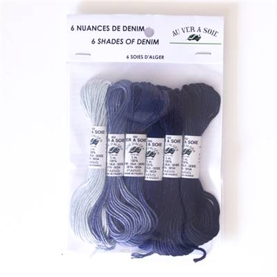 PACK 6 NUANCES SOIE ALGER - DENIM