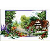 NO COUNT CROSS STITCH - UN COTTAGE AU BORD DE L'EAU